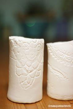 fimo light air diy vases