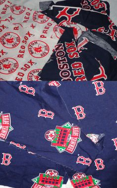 Mixed lot Boston Red Sox Cotton Fabric Scraps small pieces 20 pcs.  http://www.etsy.com/listing/128701902/mixed-lot-boston-red-sox-cotton-fabric?