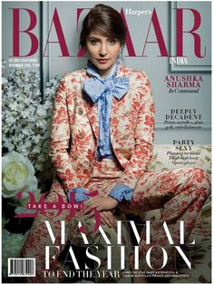 Anushka Sharma on Harper Bazaar December 2015. #Bollywood #Fashion #Style #Beauty #Hot #Sexy