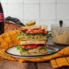 "Chickpea Salad Sandwich (Vegan ""Tuna"") | Two Market Girls #Chickpea #garbanzobeans #garbanzos #chickpeas #cook #dinner #vegan #veganrecipes #veganfood #healthylifestyle #healthy #healthyfood #nutrition"