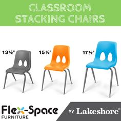 The contoured design of our super-sturdy stacking chairs guarantees years of comfortable seating!