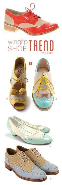 wingtip shoe trend, women's