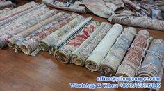 Turkish knots silk carpets are ready to be sent to abroad.