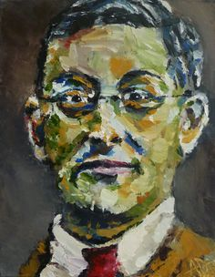 "Portrait of Conrad Felixmuller, Oil on Canvas 14x11"", © Copyright 2011 Alan Derwin"