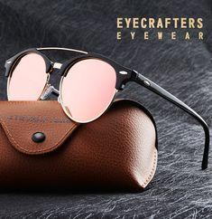 638d3910aa1 Fashion Mens Club Round Sunglasses Polarized Womens Brand Designer Polaroid  Double Bridge Sunglasses Oculos de sol