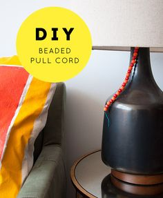 Super easy way to add a little style to a basic lamp