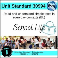 US30994 - Read Simple Texts (EL - Level 1) Literacy Strategies, Student Information, English Language Learners, Close Reading, Comprehension, Esl, Learning Activities, Assessment, Booklet