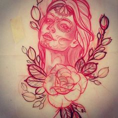 neo traditional woman portrait tattoo - Google-søk