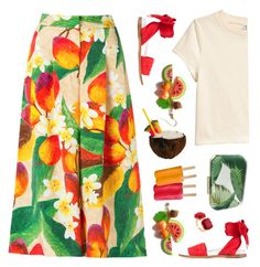"""oddly tropical"" by countrycousin ❤ liked on Polyvore featuring Isolda, Marques'Almeida and Les Néréides"