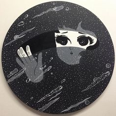 Love this beautiful piece by @stickymonger.  #feels #cosmicbaby by melstringer