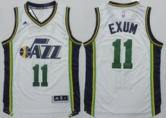 Adidas NBA Utah Jazz 11 Dante Exum New Revolution 30 Swingman White Jersey 22b44b9ae
