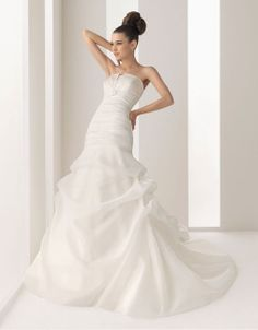 Strapless natural waist A-line tulle wedding dress,gowns wedding,gowns wedding,gowns wedding