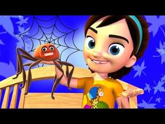 Itsy Bitsy Spider Nursery Rhymes Song 3D - Kayla Preschool Kids Cartoon Songs with Lyrics and Action - YouTube