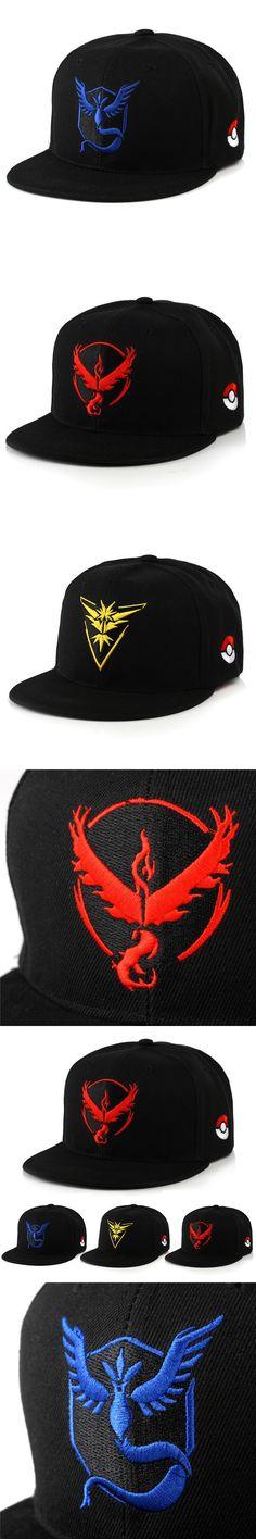 Cosplay Mobile game Pokemon Go Team Valor Team Mystic Team Instinct snapback baseball Cap hat