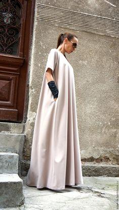 Купить Платье Pink Powder - бледно-розовый, макси платье, пудровый цвет, пудровое платье