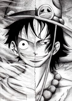 Luffy+Ace by HoRoHoRoHoRoHoRo on deviantART