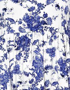 Image 2 ofASOS CURVE Smock Dress In Toile de Jouy Print