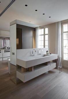 60+ Closets com Banheiros Integrados – Fotos Lindas! | Closet