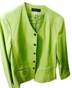 Jones New York Green Leather Jacket