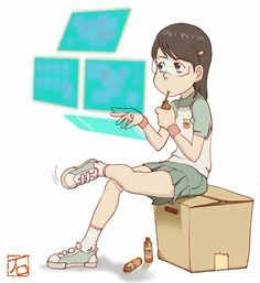 from the anime series Dennou Coil, about kids exploring augmented reality