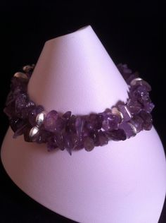 I checked out Amethyst & Silver Stacking Bracelets on Lish, $17.50 USD