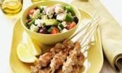 PORK SOUVLAKI WITH GREEK FETA SALAD