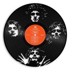 Freddie Mercury Queen Band Art Queen Record Flash Gordon Retro Cool Gift Ideas For Women Men Concert Decor Vinyl Record Music Gift Old Vinyl Records, Vinyl Record Art, Vinyl Wall Art, Records Diy, Record Wall, Music Wall, Dj Music, Queen Band, Best Part Of Me