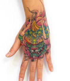 Foo Dog Tattoo, Dog Tattoos, Cute Tattoos, Tattoo Toronto, Fu Dog, Hand Tattoos For Guys, Asian Tattoos, Irezumi, Tattoo Studio