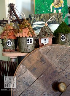 Paty! These darling houses would go perfectly with the fairy tree house you made :-)