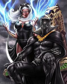 Wish we could see this on the big screen Dyana Wang Art Key Film Dates:: Marvel - Black Panther: Feb 2018 - The Avengers: Infinity War: May 2018 - Deadpool May 2018 - Ant-Man & The Wasp: Jul 2018 - Venom : Oct 2018 - X-men Dark. Black Panther Marvel, Black Panther Storm, Black Panther Art, Comic Book Characters, Comic Character, Comic Books Art, Comic Art, Tmnt Characters, Black Marvel Characters