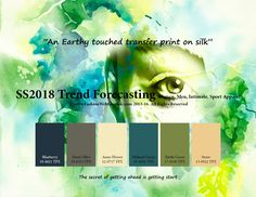 SS2018 Fashion Trend Forecasting for Women, Men, Intimate, Sport Apparel - An earthy touched transfer print on silk www.JudithNg.com