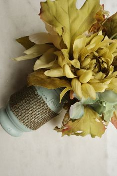 Add farmhouse style to your home with easy DIY Mason Jar Vase.  Click through or repin for later. www.meetourlife.com