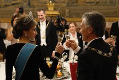 HM Queen Letizia wearing  the tiara, the earrings and the bracelets of the  Joyas de pasar for the first time in public. Feb 22th 2017 (state visit from Argentina to Spain).