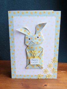 Une magnifique lapin pour une carte aux couleurs du printemps !