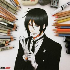 Just another repost of my old drawing of Sebastian  Don't forget to check out my Etsy Shop ▶LINK IN BIO◀  I used mostly @fabercastellglobal pencils and Spectrum Noir and @copicmarker   #blackbutler #kuroshitsuji #sebastian #michaelis #sebastianmichaelis #art #fanart #anime #animedrawing #mangadrawing #manga #animeartshelp #animeartassistant #animeartcollective #animeplague #animearttr #worldofnerdart #monstersofart_ #assemble_art #cre8hype @prismacolor @strathmoreart @derwentpenc
