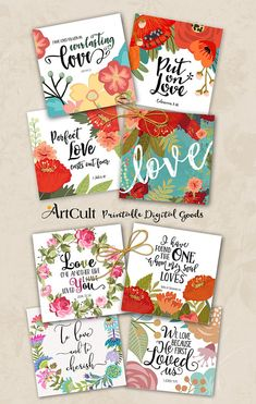 "Printable eight inch size ""LOVE"" verses, quotes for Valentine's day, wedding greeting cads, Wedding Greetings, Verses About Love, Jw Gifts, Art File, Scrapbook, Projects To Try, Card Making, Valentines, Packaging"