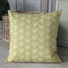 Funky Floral Dark Lime Cushion