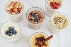 6 Overnight Oats Recipes You Should Know For Easy Breakfasts — Andianne Oats Recipes, Baby Food Recipes, Smoothie Recipes, Snack Recipes, Good Healthy Recipes, Healthy Breakfast Recipes, Healthy Breakfasts, Healthy Eats, Overnight Oats