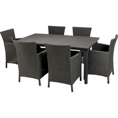 Buy Iowa Rattan Effect 6 Seater Patio Set - Graphite at Argos.co.uk, visit Argos.co.uk to shop online for Garden table and chair sets