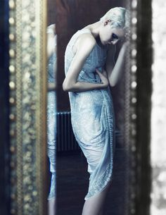 Rhapsody in Blue | Ehren Dorsey | Andrea Carter Bowman #photography | SCMP Style Magazine..lovely our pain is internally.  Not that this is what the photographer ment to capture but I feel this when I look at jer