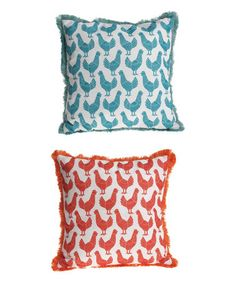 Love this Folk Rooster Pillow - Set of Two on #zulily! #zulilyfinds