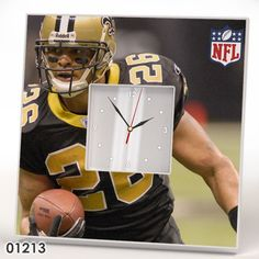 New Orleans Saints Team Wall CLOCK Mirror Frame NFL AFC NFC Collection Fan Gift #IKEA #NewOrleansSaints