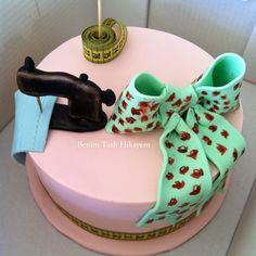 dikiş temalı pasta