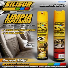 nuevo SILISUR limpia tapizados en aerosol 320grs