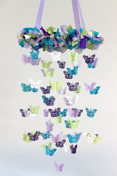 Butterfly Nursery Mobile in Purple Lavender by LovebugLullabies