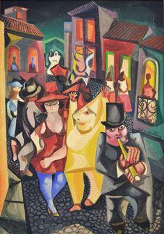Carnaval, 1968 Di Cavalcanti (Brasil, 1897-1976) óleo sobre tela, 90 x 63 cm
