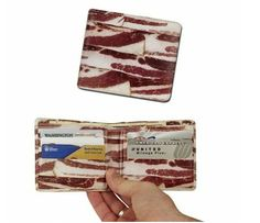 This is stupid, but it's bacon...sort of Lol. Bacon Wallet. 'Mericans will love it!