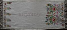 tablecloth turkish embroidery multicolor runner by Istanbulcolors, $300.00