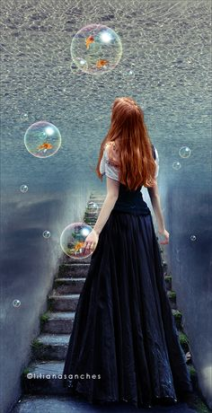 If she went up the stairs and penetrated the surface, what would she find? A world like hers or maybe a better one? Would there be hope there and joy and love? Or was there chaos and strife? Only one way to find out...