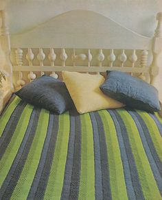 PDF Bedspread Crochet Pattern : Chevron Stitch . Throw . Blanket . Bedding Accessories . Retro . Instant Digital Download by PDFKnittingCrochet on Etsy